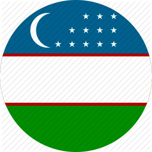Flag of Uzbekistan Circle 512